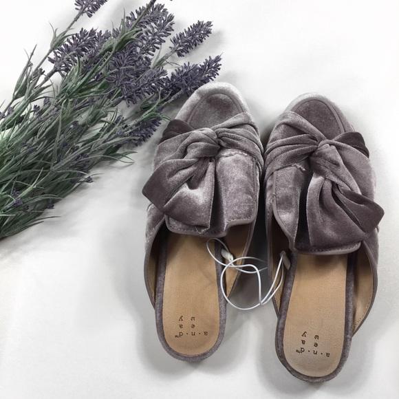 d1c4e4485e5 Purple Velvet Mule Loafers. NWT. a new day
